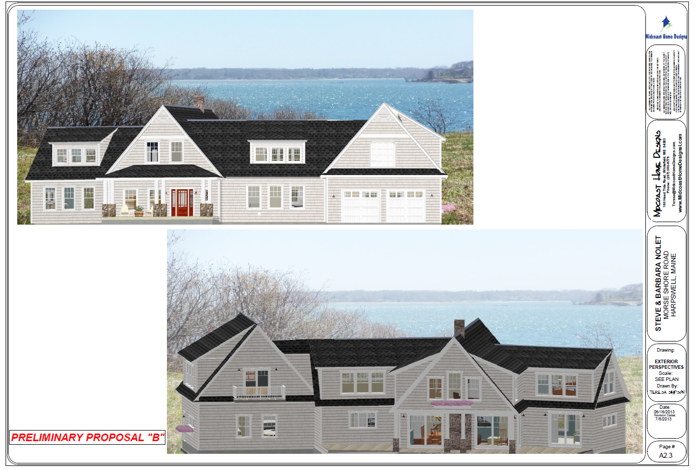 Nolet elevations 3 for Midcoast home designs