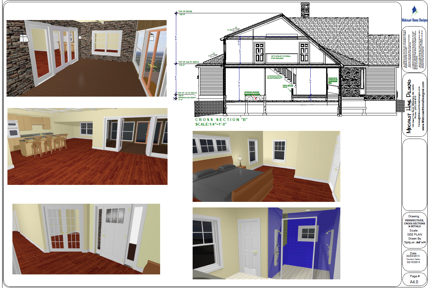 Purinton interior perspective for Midcoast home designs