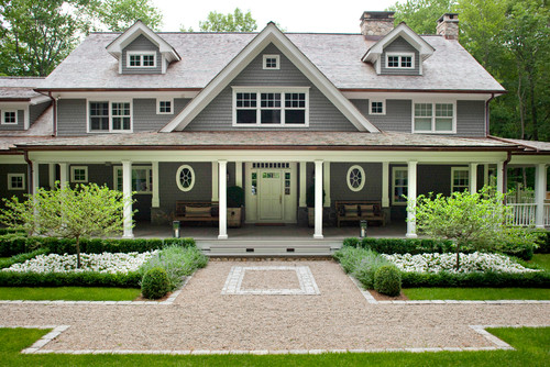 traditional home design. traditional exterior Midcoast home designs in maine